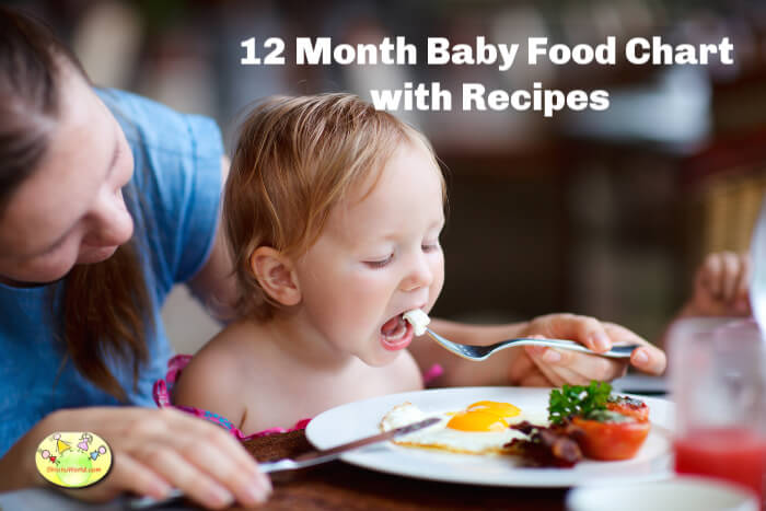 1 year baby food chart