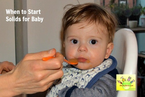 When to start solids for baby