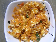 Paneer( Indian Cottage Cheese) Bhurji for babies and toddlers