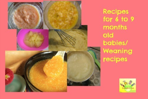 Baby food recipes 6 to 9 months old wholesome weaning recipes forumfinder Gallery