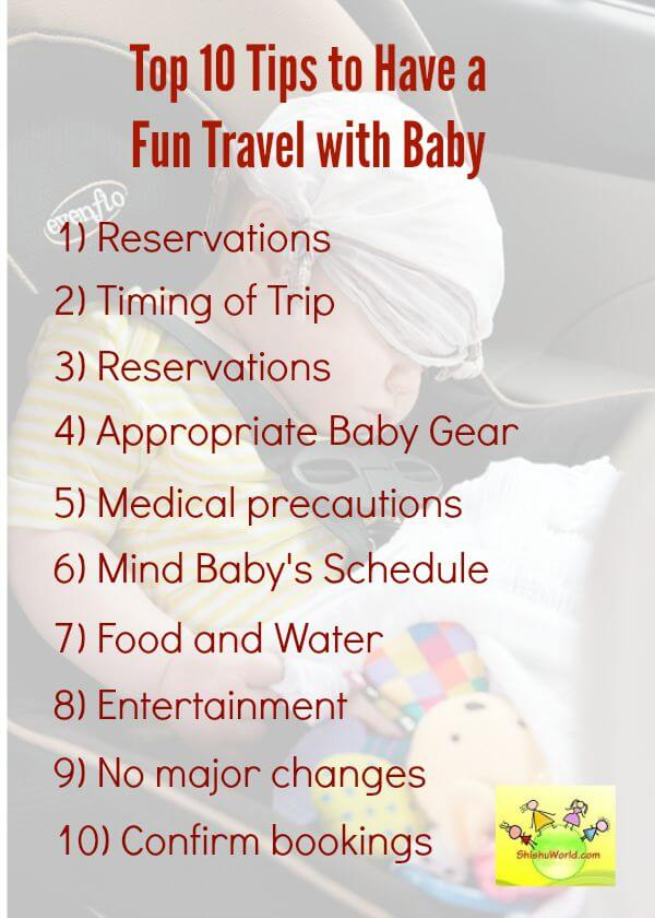 Top 10 tips to have fun trip with baby