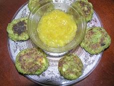Hara Bhara Kabab with sweet potato