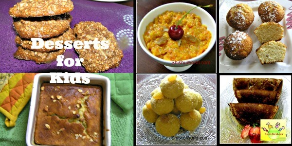Healthy desserts/sweets for kids