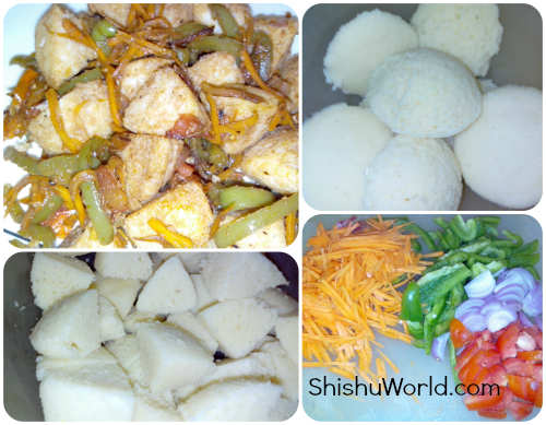Chilli Idli/ Idli manchurian for kids