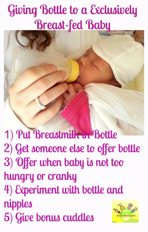 Introducing formula to exclusively breast-fed baby How to transition exlusively breastfed baby to bottle feeding? Tips to introduce formula to exclusively breast-fed baby