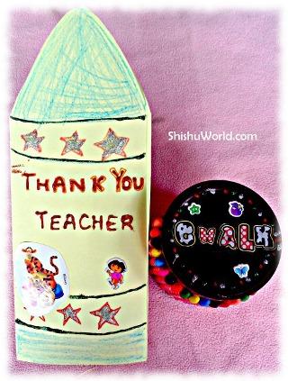 Teacher's day card and craft chalk box