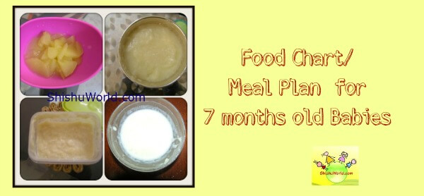 7 month baby food chart meal plan for 7 months baby forumfinder
