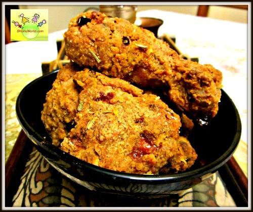 KFC style Baked crumbed chicken