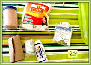 Badages in baby/toddler first-aid kit