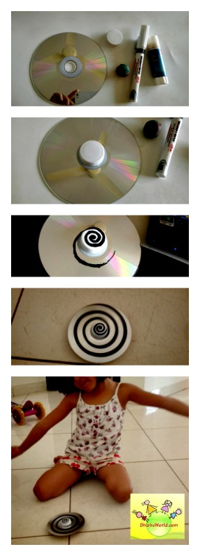Recycle CDs to spinners
