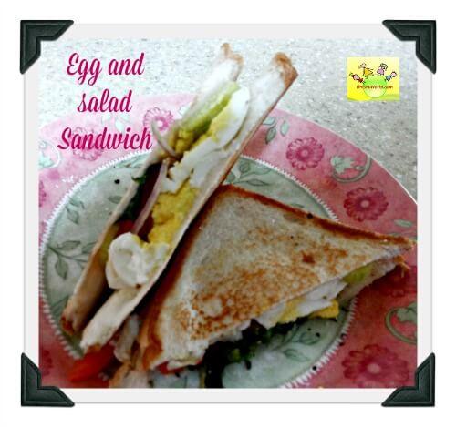 Egg and salad Sandwich