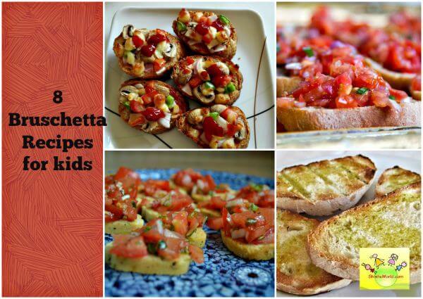 Breakfast/ Snack/ Bruschetta recipes for kids