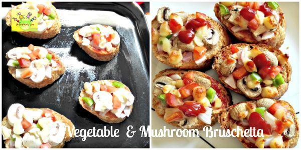 Vegetable  Mushroom Bruschetta