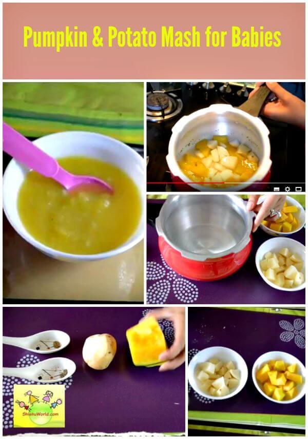Pumpkin and Potato puree for babies