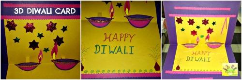Decorate 3d Diwali card as you wish