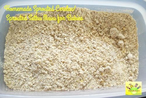 Homemade Sprouted Cerelac/ Sathu Mavu for Babies