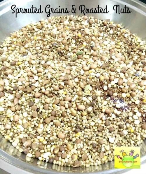 Sprouted cereals for sathu mavu