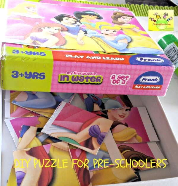 DIY jigsaw puzzle for your child