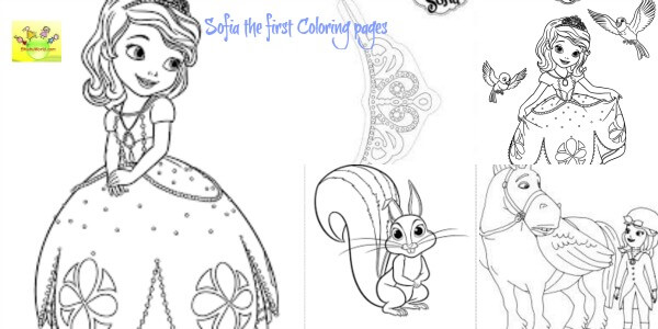 Sofia the first birthday party coloring pages