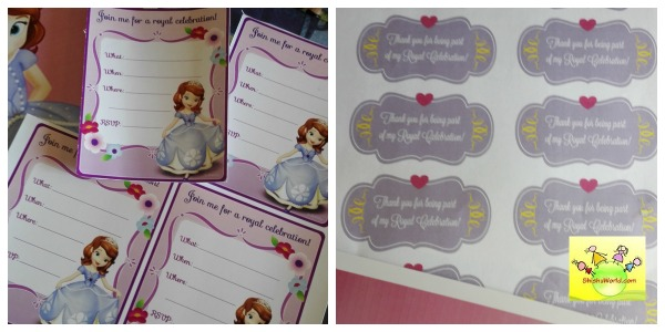 Sofia the first birthday party invitation cards
