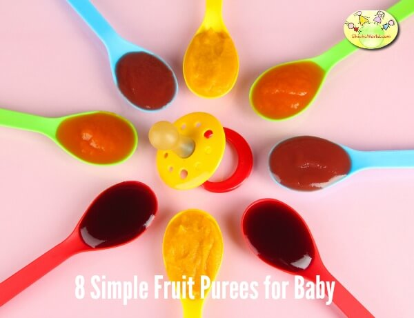 8 simple fruit purees for baby