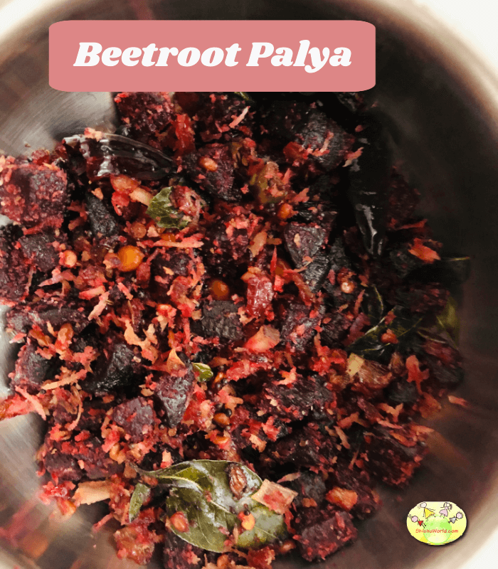 Beetroot Palya - A Simple And Quick South Indian Stir Fry