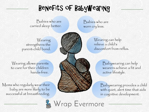 Benefits for baby wearing