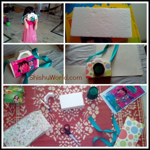 DIY craft toy camera for kids