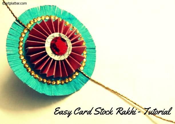 Card stock rakhi