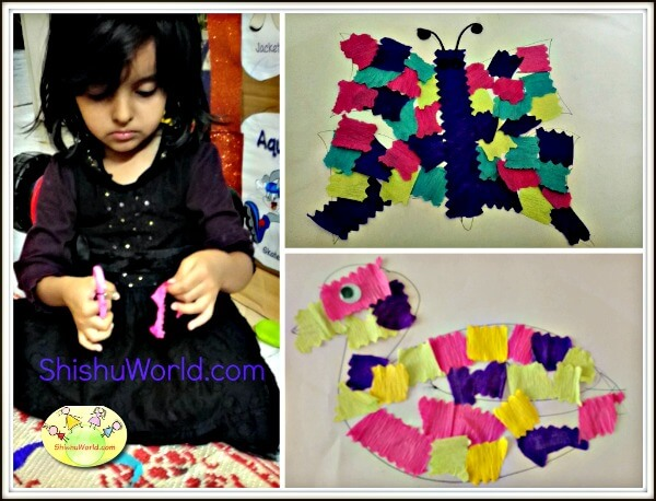 Easy craft activity for kids Patchwork animals