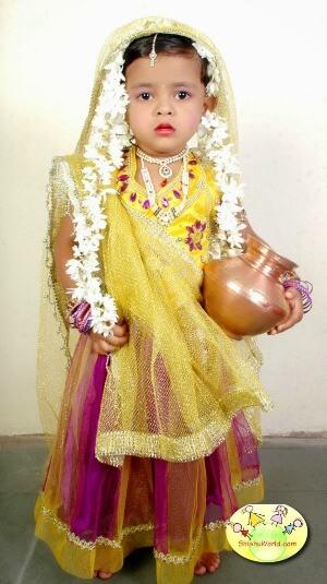 Tips to dress girls as Radha for Janamashtami