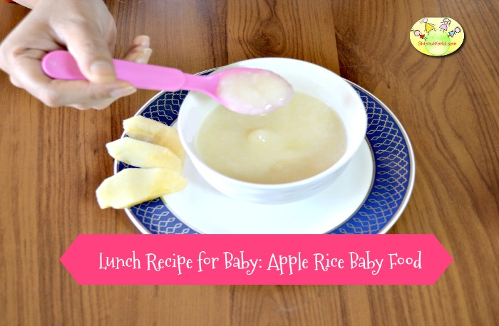Apple rice baby food lunch recipe for babies 6 months and above forumfinder Images