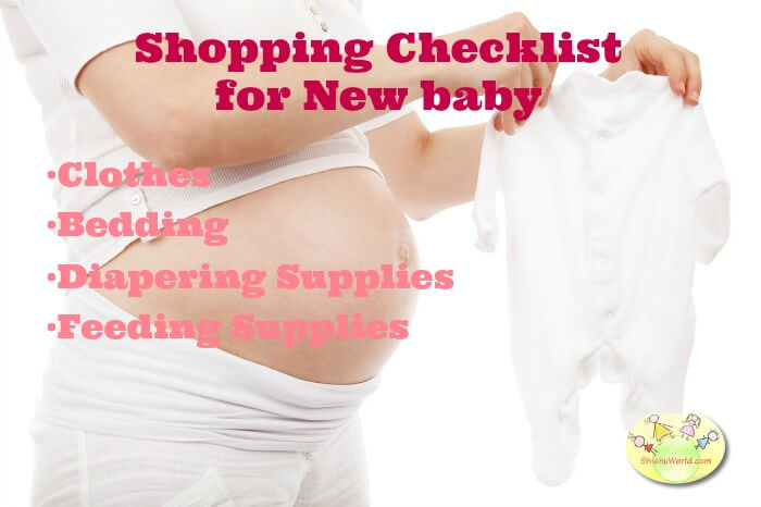 Shopping checklist for baby