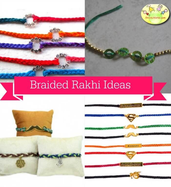 DIY Braided Rakhi ideas