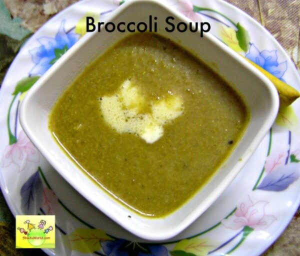 broccoli soup for babies, toddlers, kids