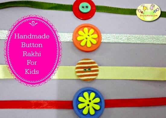 DIY Button Rakhi ideas
