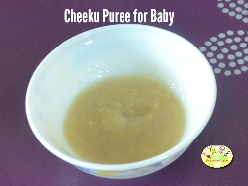 Cheeku puree for baby
