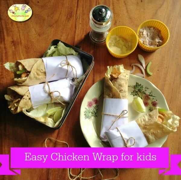 Chicken wrap for kids