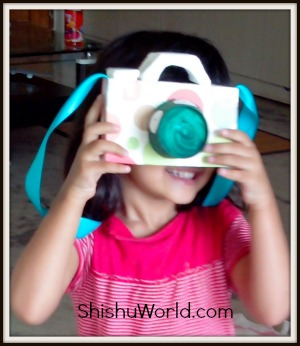 DIY craft toy camera for kids
