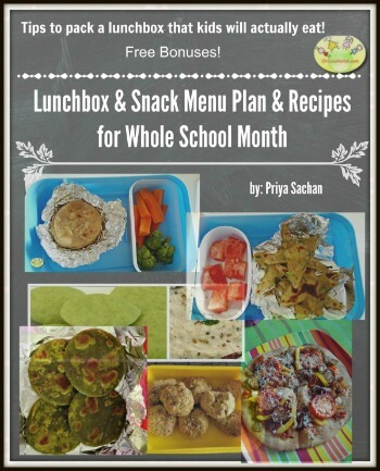 Back to School Snacks & Lunchbox Menu & Recipes Ebook