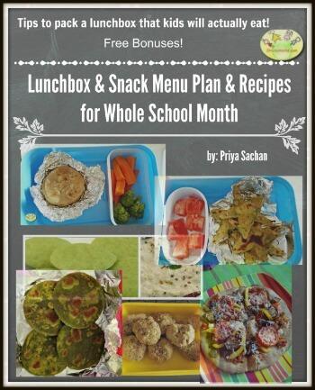 Back to School Snacks & Lunchbox Menu & Recipes Ebook
