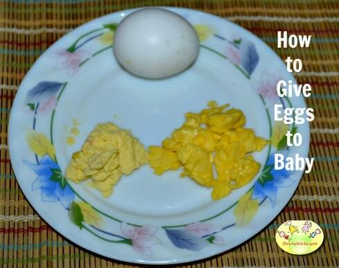 5 ways to give Egg to Baby