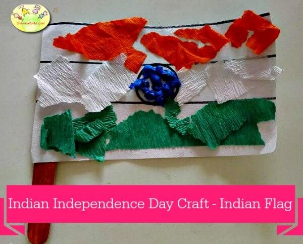 Indian flag crafts for kids