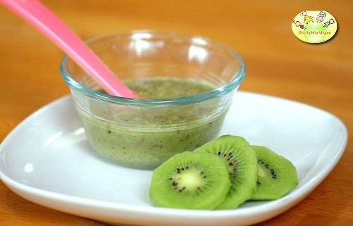 Kiwi puree for baby