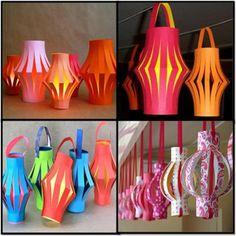 Craft Paper lanterns for kids