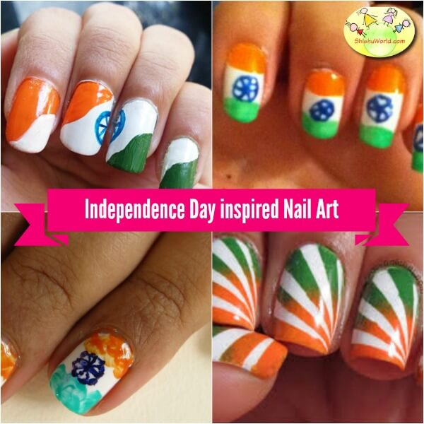Independence day inspired nail art