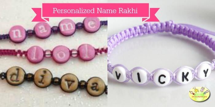 Personalised rakhi/ friendship bracelets