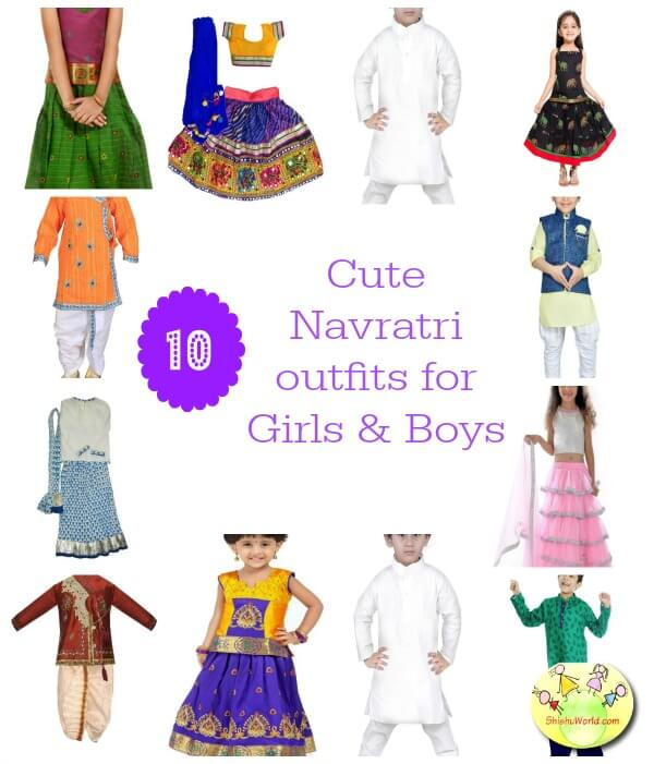 10 cute navratri dresses/ outfits for girls and boys