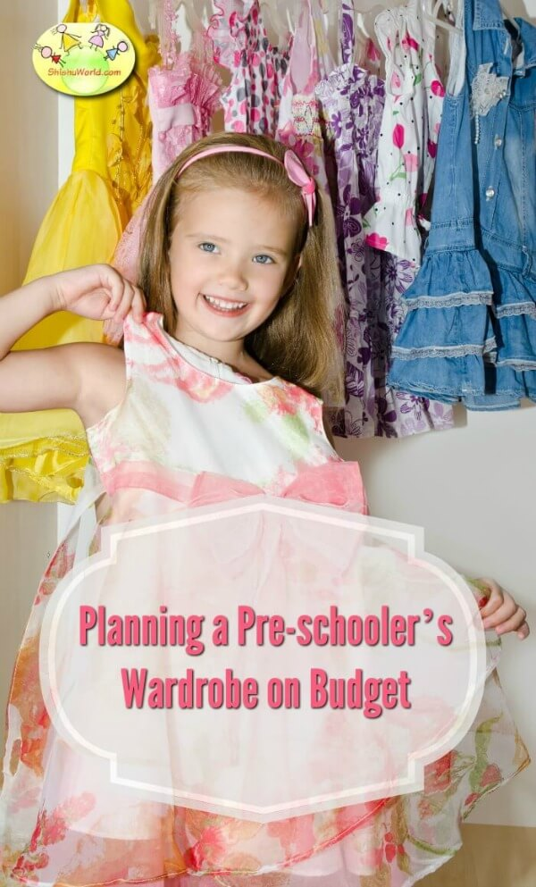 Planning a pre-schooler's wardrobe on budget