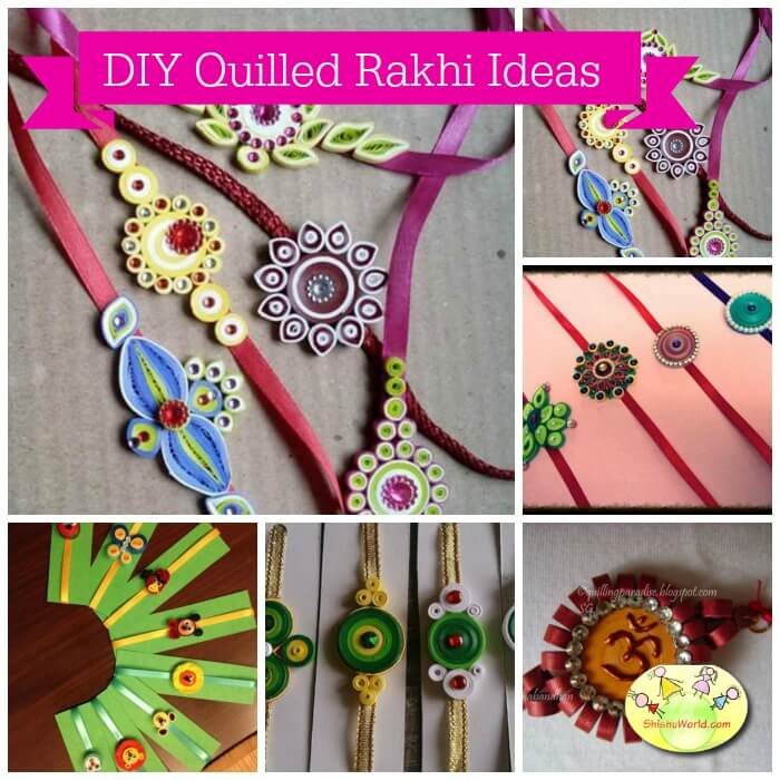 DIY quilled rakhi ideas